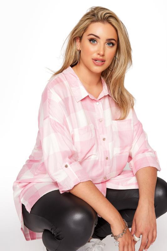 Pink Check Oversized Shirt_D.jpg