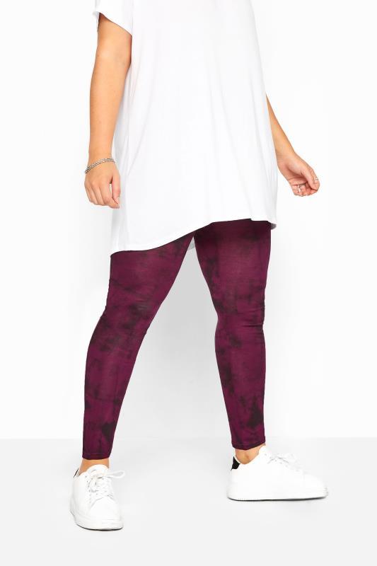 Wine Purple Tie Dye Leggings