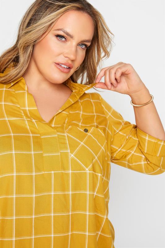 Mustard Yellow Overhead Check Shirt_D.jpg