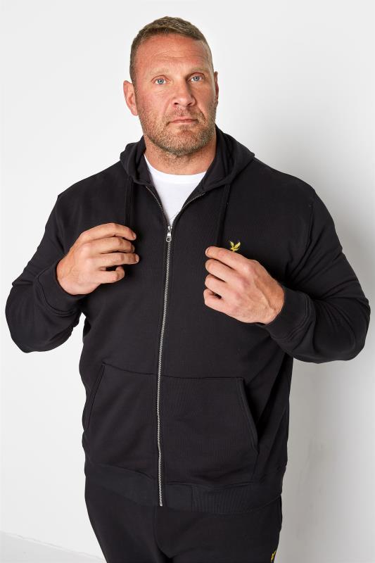 Plus Size  LYLE & SCOTT Black Zip Through Hoodie