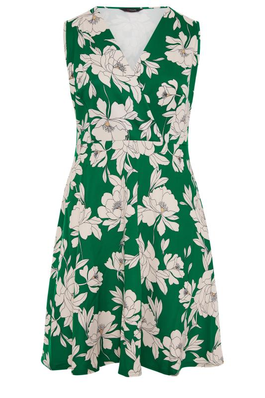 Green Floral Wrap Skater Midi Dress_F.jpg