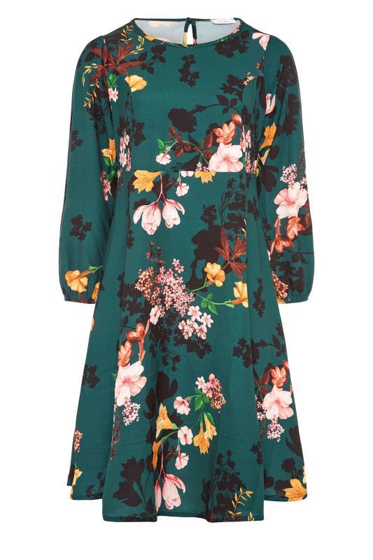 YOURS LONDON Green Floral Midi Dress_F.jpg