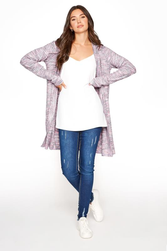 Tall  LTS Pink Marl Cardigan