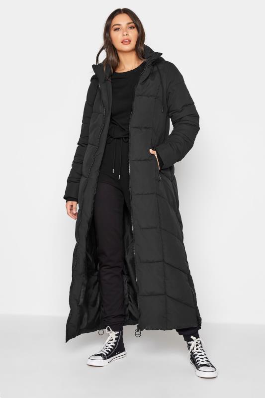 Tall  Black Longline Puffer Coat