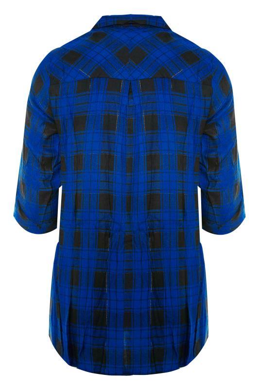 Cobalt Blue Zip Check Shirt_BK.jpg