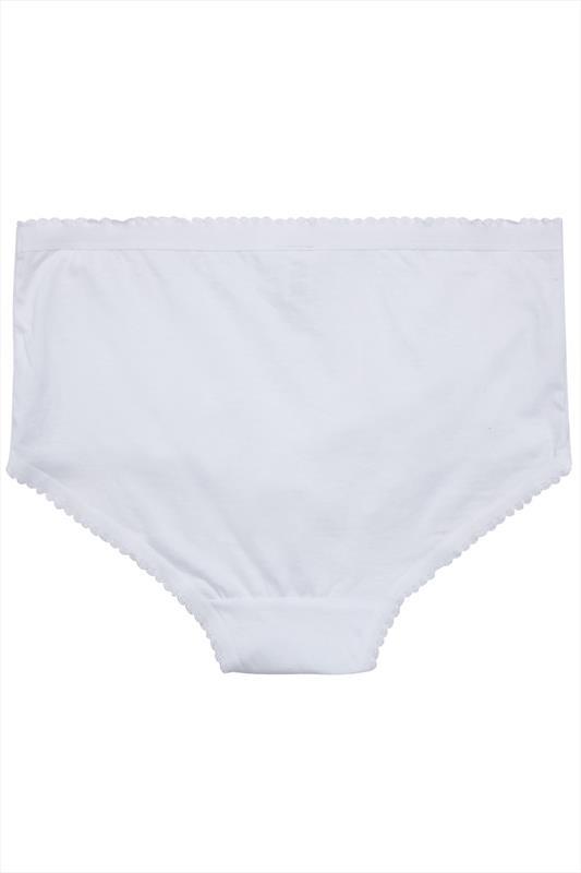 5er Pack Weiße Baumwoll-Slips