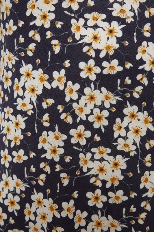 LTS Black Floral Print V-Neck Midi Dress_S.jpg