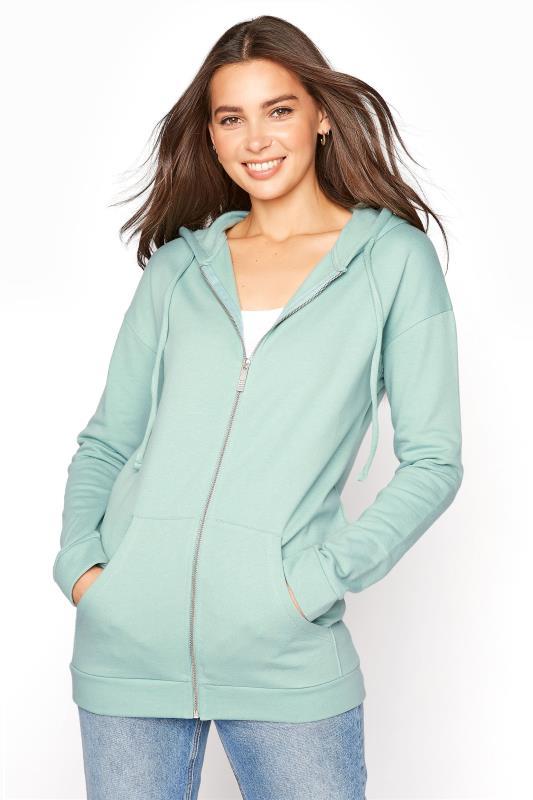 LTS Sage Green Zipper Hoodie