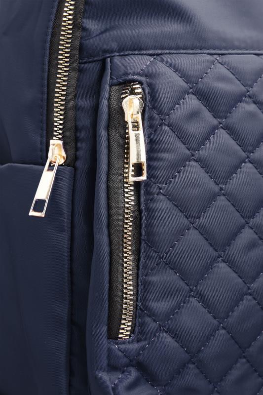 Navy Quilted Backpack