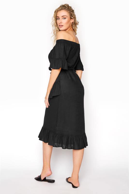 LTS Black Linen Bardot Frill Dress_C.jpg