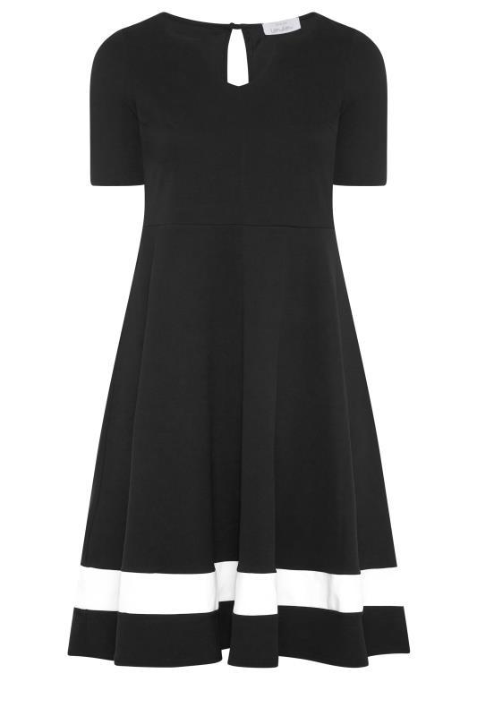 YOURS LONDON Black Notch Neck Skater Dress_F.jpg