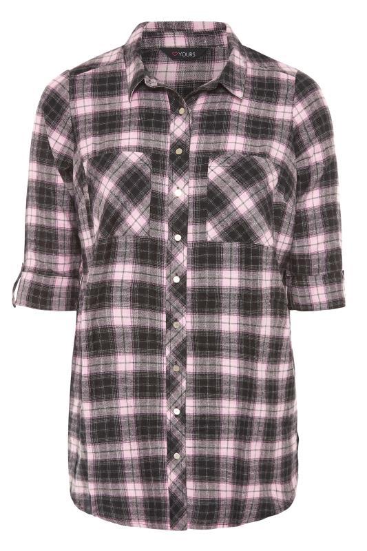 Black & Pink Check Cotton Boyfriend Shirt_F.jpg