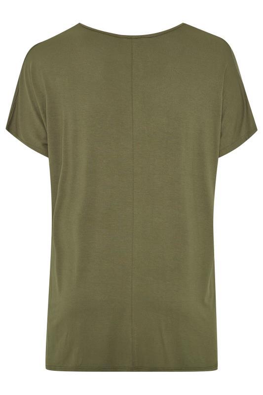 Khaki Laser Cut Jersey Top