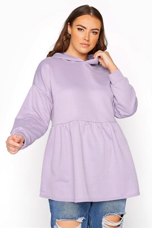 Lilac Peplum Hoodie