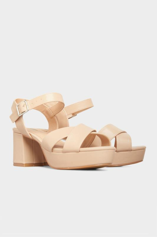LIMITED COLLECTION Nude Platform Heeled Sandals In Extra Wide Fit_B.jpg