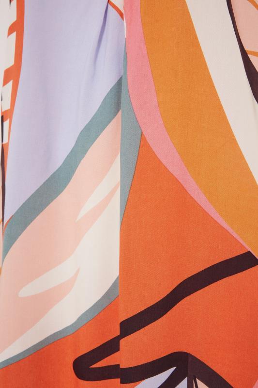 Orange Abstract Midi Dress_S.jpg