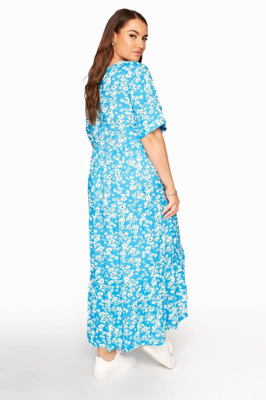 LIMITED COLLECTION Blue Daisy Tiered Smock Dress_C.jpg