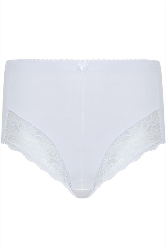 Shapewear Slip mit Spitzendetails - Weiß