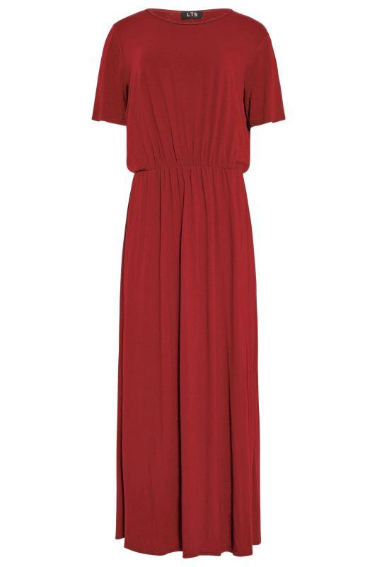 LTS Burgundy Pocket Midaxi Dress_F.jpg