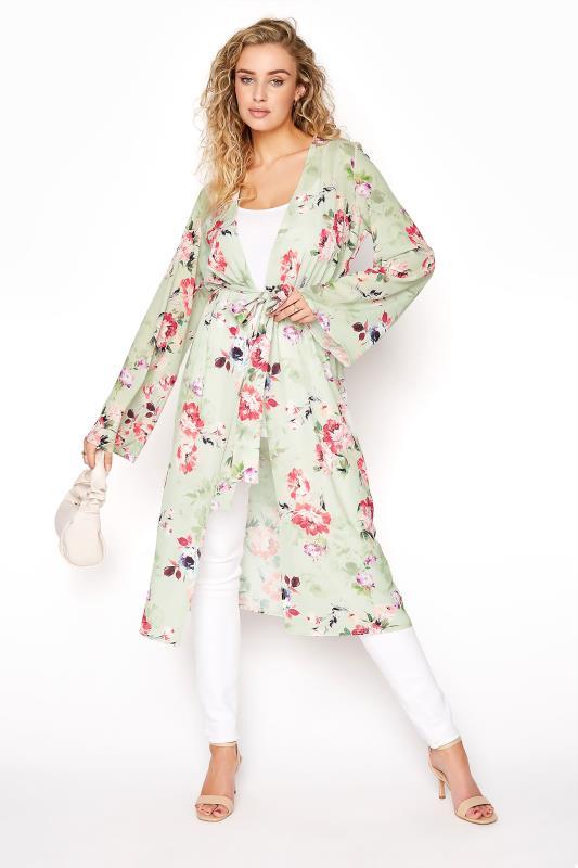 LTS Sage Green Floral Bubble Kimono