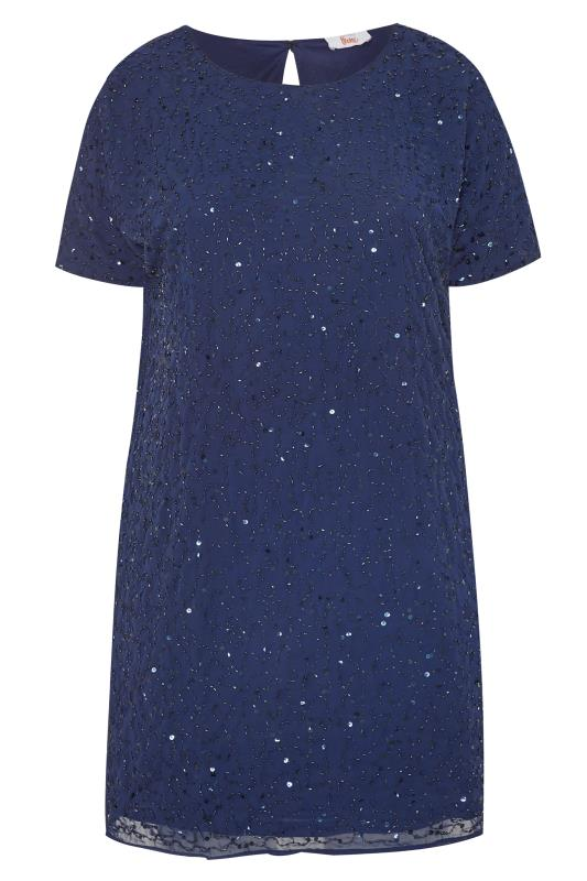 LUXE Navy Sequin Embellished Cape Dress_157090f.jpg