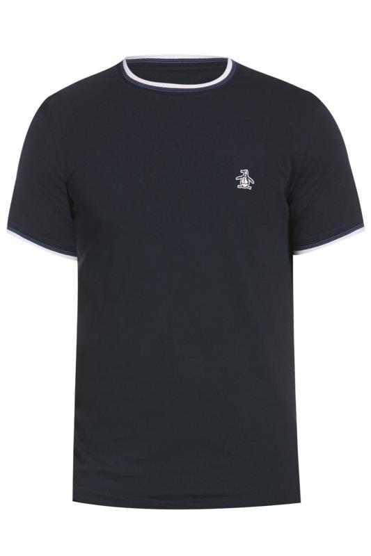 PENGUIN MUNSINGWEAR Navy & White Contrast Ringer T-Shirt