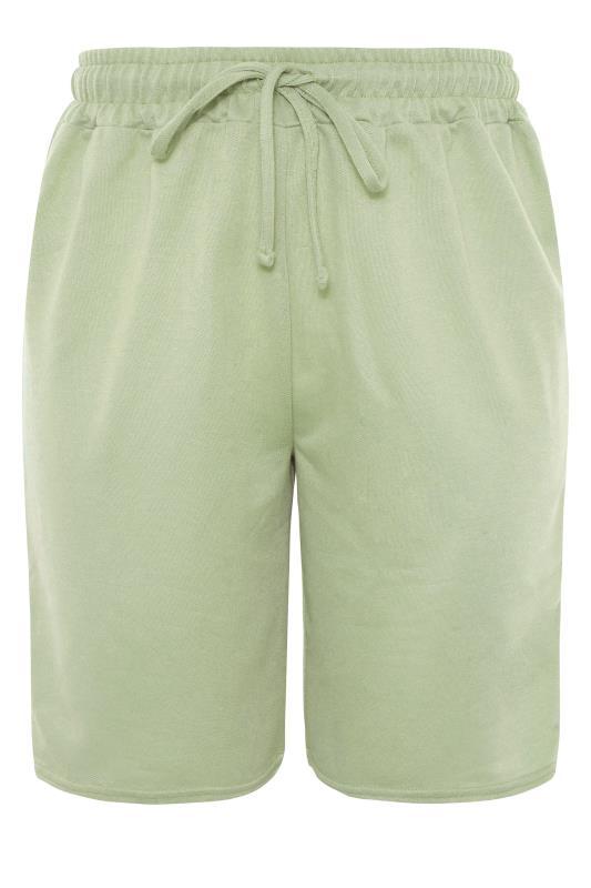 Sage Green Jersey Jogger Shorts_F.jpg