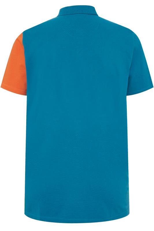 STUDIO A Blue Colour Block Polo Shirt