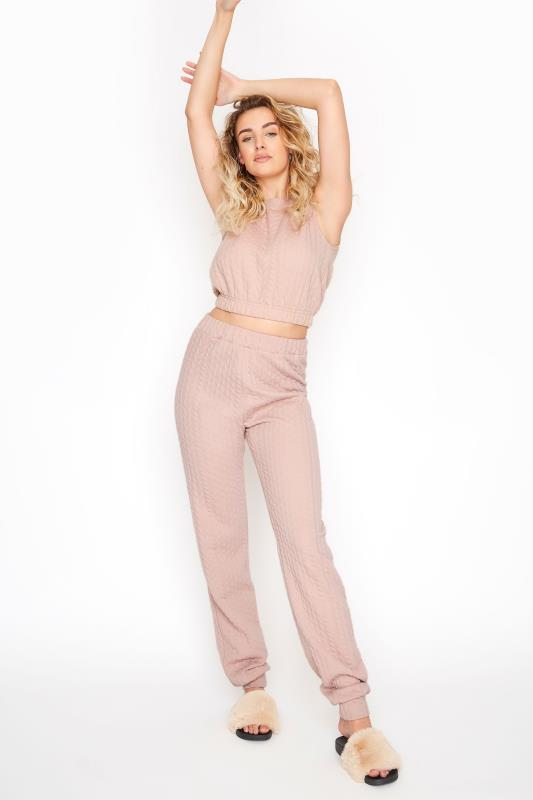 Tall  LTS Pink Cable Print Co-ord Joggers