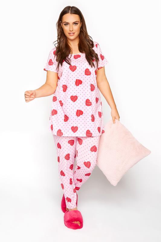 Pink Heart Spot Pyjama Set_B.jpg