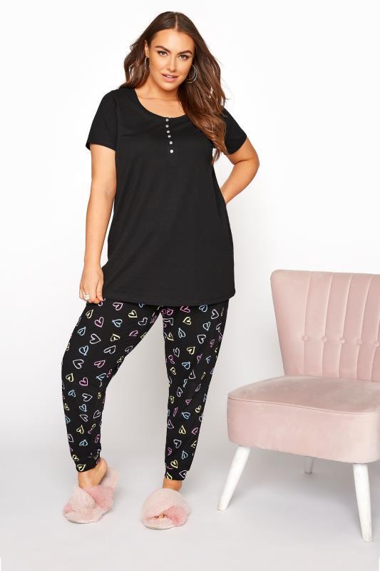 Black Button Scoop Neck Pyjama Top_B.jpg
