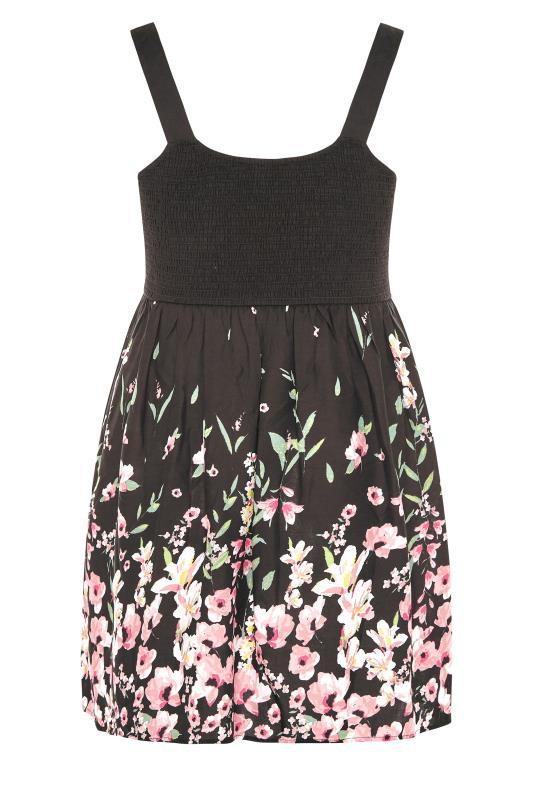 Black Border Floral Shirred Vest Top_BK.jpg