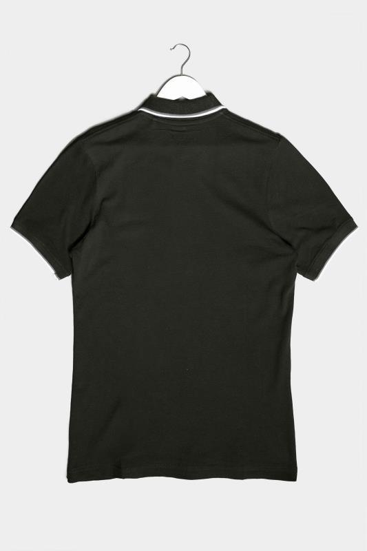 BadRhino Black Essential Tipped Polo Shirt_BK.jpg