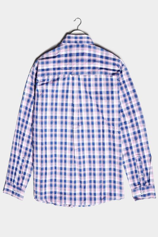 BadRhino Pink & Blue Cotton Check Shirt