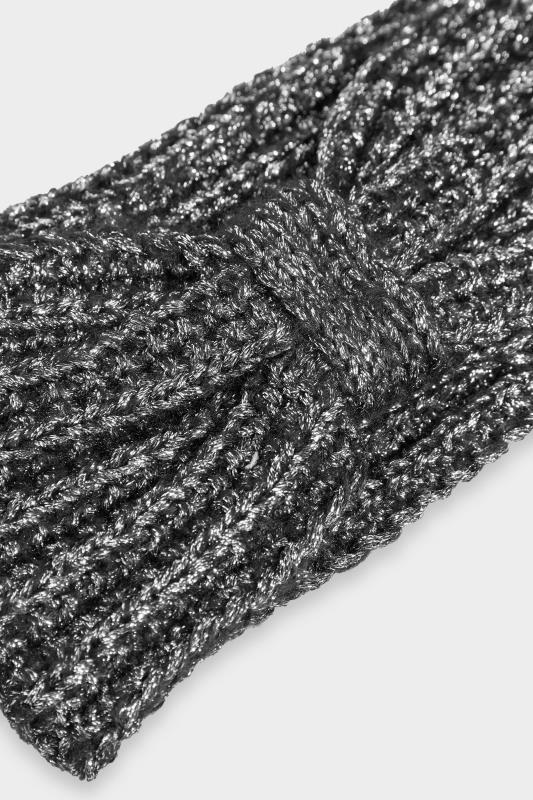 Black Metallic Knot Knitted Headband_D.jpg