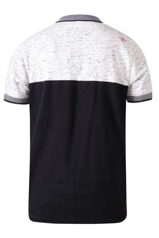 D555 Black Cut and Sew Tipped Polo Shirt