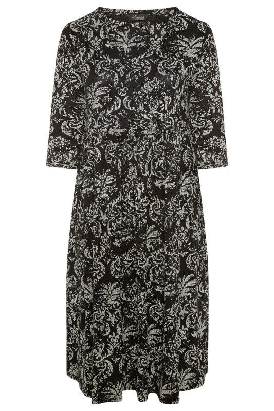 LIMITED COLLECTION Black Paisley Print Midaxi Dress_F.jpg