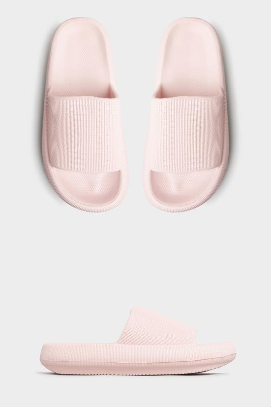 LIMITED COLLECTION Pink Eva Sliders In Extra Wide Fit