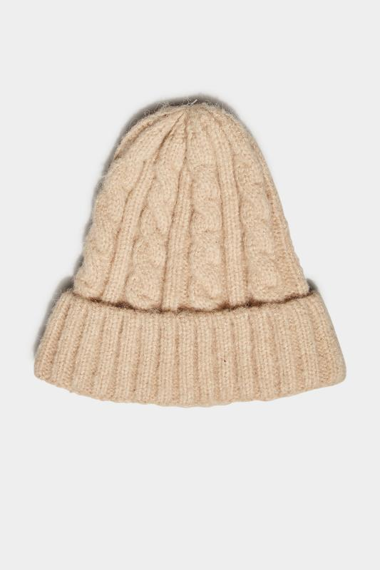 Stone Cable Knit Beanie