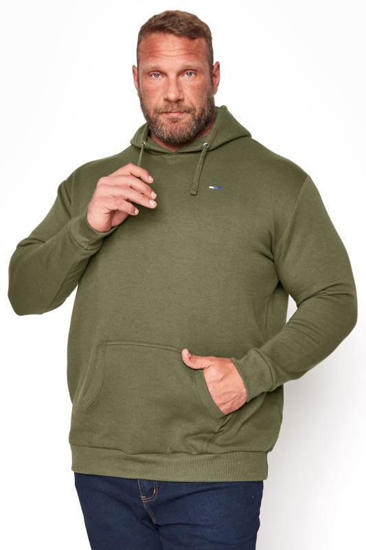 Men's Casual / Every Day BadRhino Khaki Essential Hoodie