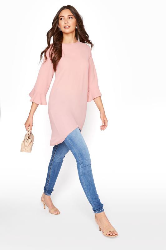 LTS Blush Pink Flute Sleeve Tunic