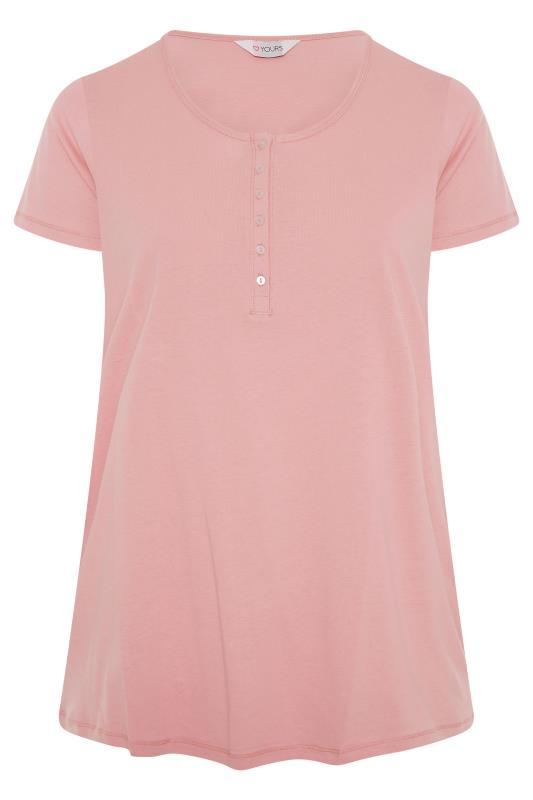 Pink Button Scoop Neck Pyjama Top_F.jpg
