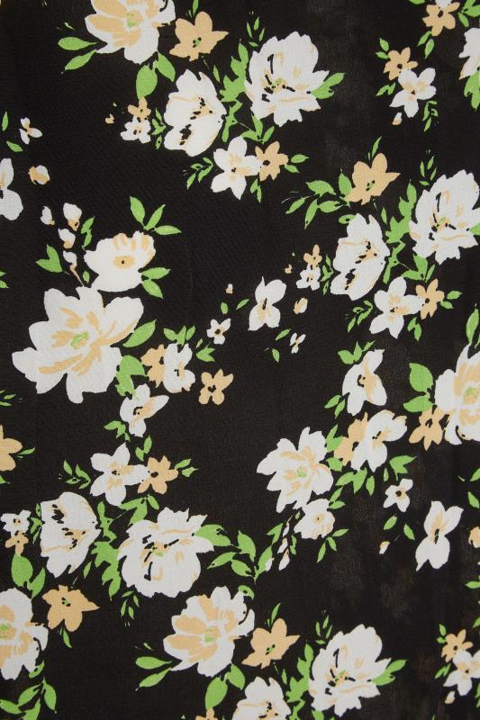 THE LIMITED EDIT Black Floral Pleated Dress_S.jpg