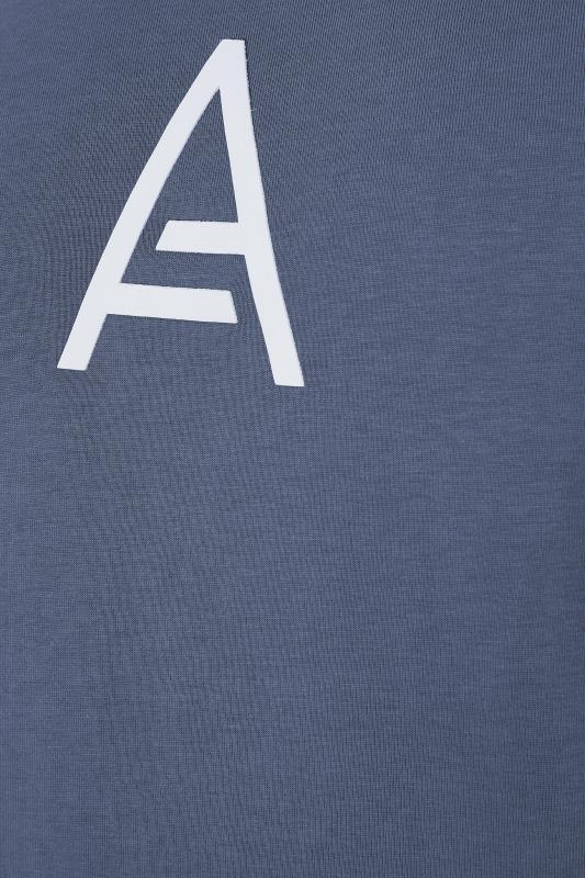STUDIO A Blue Long Panel T-Shirt_S.jpg