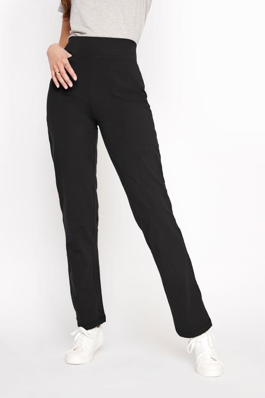 Black Slim Leg Yoga Pants