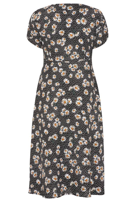 LIMITED COLLECTION Black Daisy Ruched Maxi Dress_BK.jpg