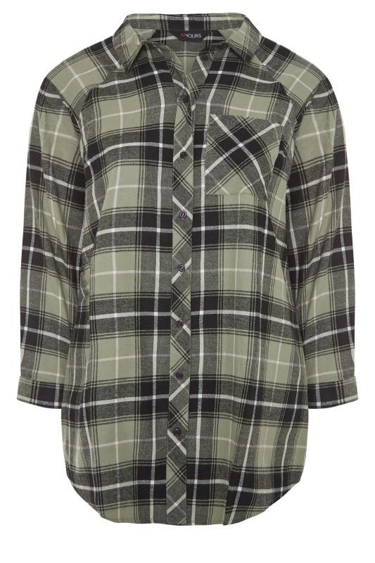 Khaki Check Raglan Boyfriend Shirt_F.jpg