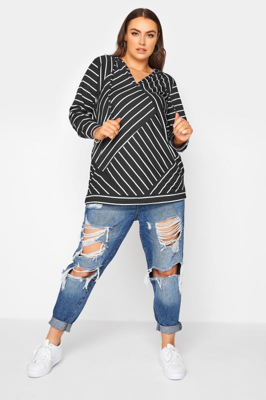 Black Asymmetric Stripe Hoodie_B.jpg