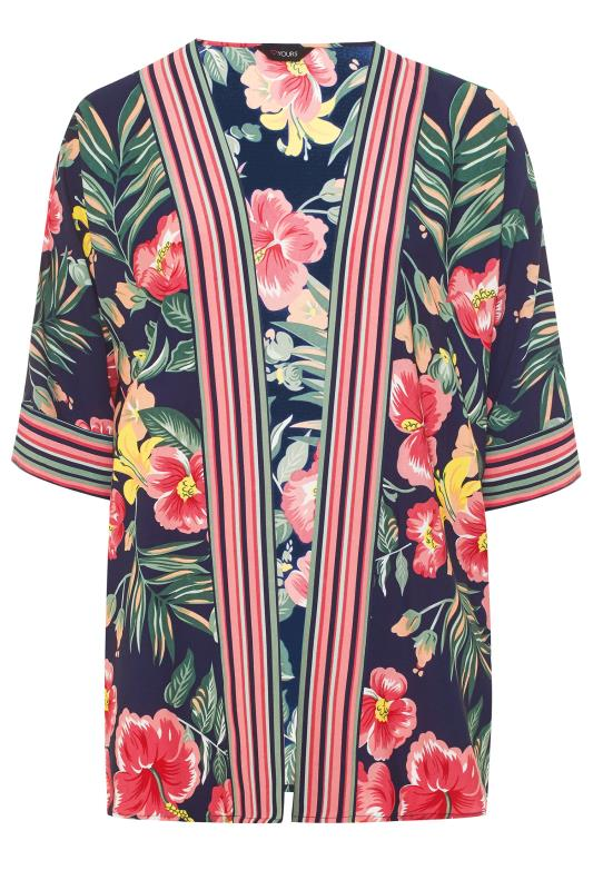 Navy Floral Cover Up