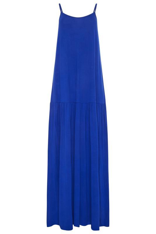 LTS Cobalt Blue Strappy Drop Waist Maxi Dress_F.jpg